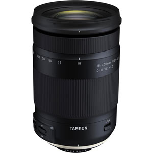 Tamron 18-400mm f/3.5-6.3 Di II VC HLD Lens for Canon EF (B028) - 5 year warranty - UK Next Day Delivery